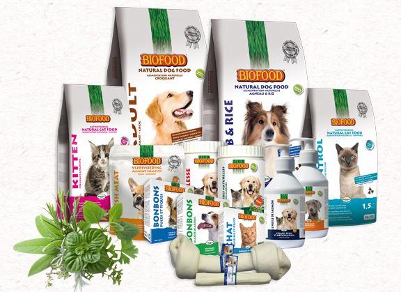 La gamme d'alimentation naturelle pour les chiens et les chats BIOFOOD