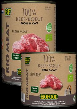 Viande biologique haute qualité Biofood pour chien ou chat