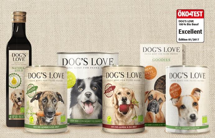 alimentation bio pour chien Dog's Love